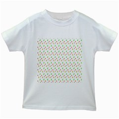 Fruit Pattern Vector Background Kids White T Shirts by Nexatart