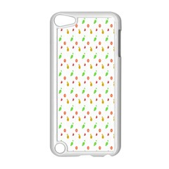 Fruit Pattern Vector Background Apple Ipod Touch 5 Case (white) by Nexatart