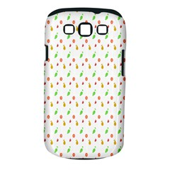 Fruit Pattern Vector Background Samsung Galaxy S Iii Classic Hardshell Case (pc+silicone) by Nexatart