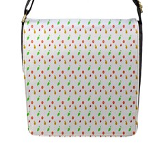Fruit Pattern Vector Background Flap Messenger Bag (l)  by Nexatart