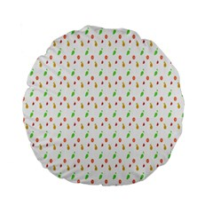 Fruit Pattern Vector Background Standard 15  Premium Flano Round Cushions