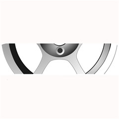 Car Wheel Chrome Rim Large Bar Mats by Nexatart
