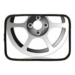 Car Wheel Chrome Rim Netbook Case (medium)