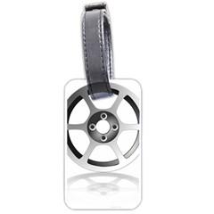 Car Wheel Chrome Rim Luggage Tags (one Side)