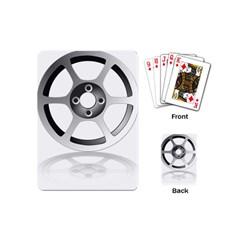 Car Wheel Chrome Rim Playing Cards (mini)  by Nexatart