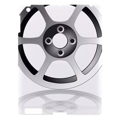 Car Wheel Chrome Rim Apple Ipad 3/4 Hardshell Case