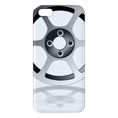 Car Wheel Chrome Rim Iphone 5s/ Se Premium Hardshell Case by Nexatart
