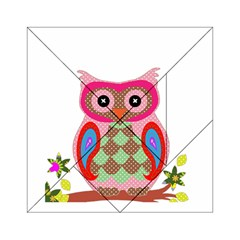 Owl Colorful Patchwork Art Acrylic Tangram Puzzle (6  X 6 ) by Nexatart