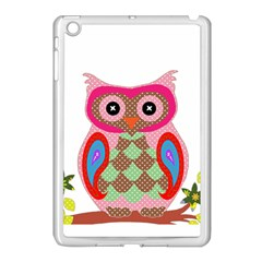 Owl Colorful Patchwork Art Apple Ipad Mini Case (white)