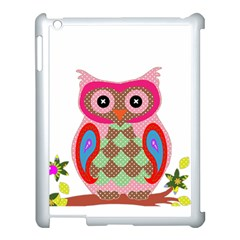 Owl Colorful Patchwork Art Apple Ipad 3/4 Case (white)