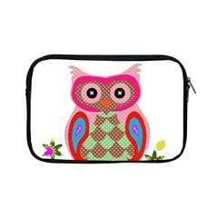 Owl Colorful Patchwork Art Apple Ipad Mini Zipper Cases by Nexatart
