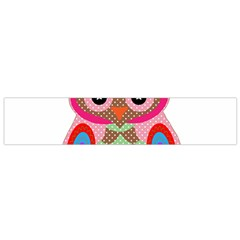 Owl Colorful Patchwork Art Flano Scarf (small) by Nexatart