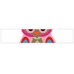 Owl Colorful Patchwork Art Flano Scarf (large)