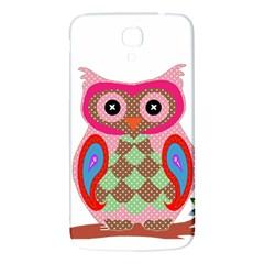 Owl Colorful Patchwork Art Samsung Galaxy Mega I9200 Hardshell Back Case by Nexatart