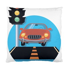 Semaphore Car Road City Traffic Standard Cushion Case (one Side)