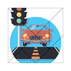 Semaphore Car Road City Traffic Acrylic Tangram Puzzle (6  X 6 )