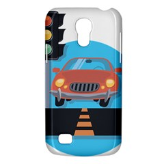 Semaphore Car Road City Traffic Galaxy S4 Mini by Nexatart