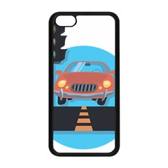 Semaphore Car Road City Traffic Apple Iphone 5c Seamless Case (black)