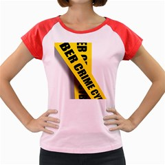Internet Crime Cyber Criminal Women s Cap Sleeve T Shirt