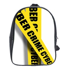 Internet Crime Cyber Criminal School Bags(large)  by Nexatart
