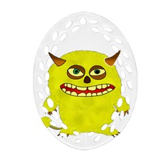 Monster Troll Halloween Shudder Ornament (oval Filigree)
