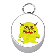 Monster Troll Halloween Shudder Mini Silver Compasses by Nexatart