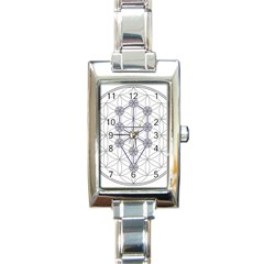 Tree Of Life Flower Of Life Stage Rectangle Italian Charm Watch by Nexatart