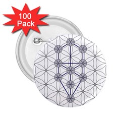Tree Of Life Flower Of Life Stage 2 25  Buttons (100 Pack)  by Nexatart