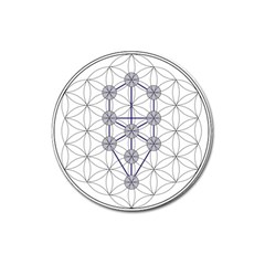 Tree Of Life Flower Of Life Stage Magnet 3  (round) by Nexatart