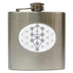 Tree Of Life Flower Of Life Stage Hip Flask (6 oz) by Nexatart