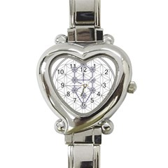 Tree Of Life Flower Of Life Stage Heart Italian Charm Watch by Nexatart