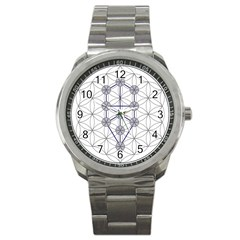 Tree Of Life Flower Of Life Stage Sport Metal Watch by Nexatart