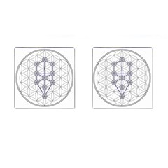 Tree Of Life Flower Of Life Stage Cufflinks (square) by Nexatart