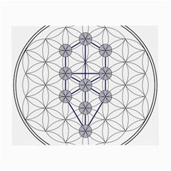 Tree Of Life Flower Of Life Stage Small Glasses Cloth (2 Side) by Nexatart