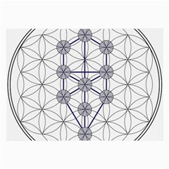 Tree Of Life Flower Of Life Stage Large Glasses Cloth (2 Side) by Nexatart