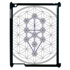 Tree Of Life Flower Of Life Stage Apple Ipad 2 Case (black) by Nexatart