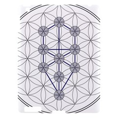 Tree Of Life Flower Of Life Stage Apple Ipad 3/4 Hardshell Case by Nexatart