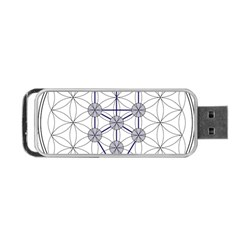 Tree Of Life Flower Of Life Stage Portable Usb Flash (one Side) by Nexatart