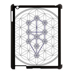 Tree Of Life Flower Of Life Stage Apple Ipad 3/4 Case (black) by Nexatart