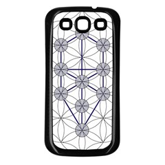 Tree Of Life Flower Of Life Stage Samsung Galaxy S3 Back Case (black) by Nexatart