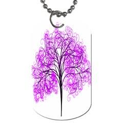 Purple Tree Dog Tag (Two Sides)