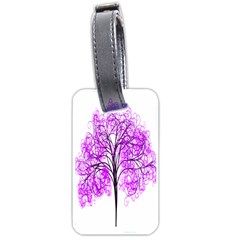 Purple Tree Luggage Tags (two Sides) by Nexatart