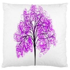 Purple Tree Large Cushion Case (two Sides)