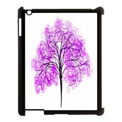 Purple Tree Apple Ipad 3/4 Case (black)