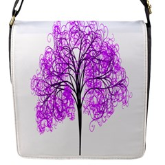Purple Tree Flap Messenger Bag (s)