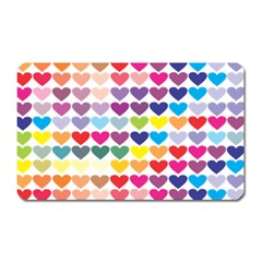 Heart Love Color Colorful Magnet (rectangular) by Nexatart