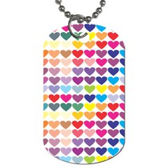 Heart Love Color Colorful Dog Tag (one Side) by Nexatart