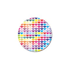 Heart Love Color Colorful Golf Ball Marker by Nexatart