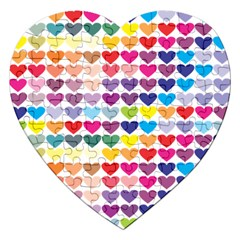 Heart Love Color Colorful Jigsaw Puzzle (heart)