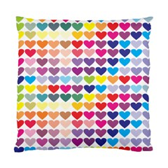 Heart Love Color Colorful Standard Cushion Case (two Sides)